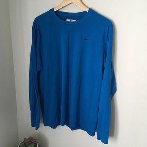 Blue Nike long sleeve